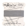 Dazzle-it 100% Silk Bead Cord with needle 2M #4(0.60mm) Grey